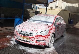 בשטיפת רכב